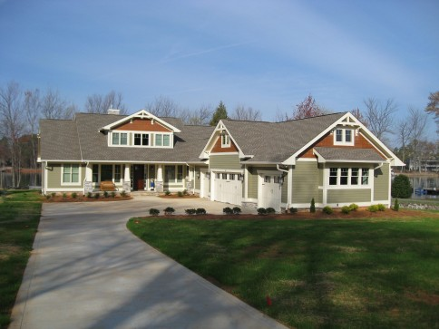 single-family craftsman style home